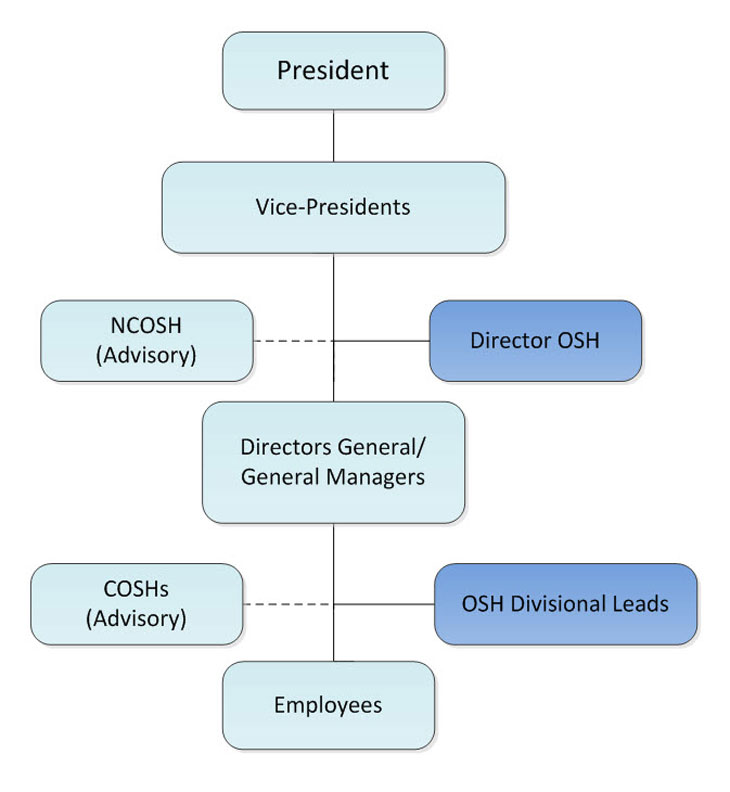 NRC's OSH Responsibility Structure
