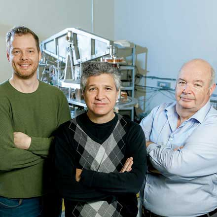 NRC specialist contributors to the kilogram project - From left to right: Richard Green, Carlos Sanchez, and Barry Wood.