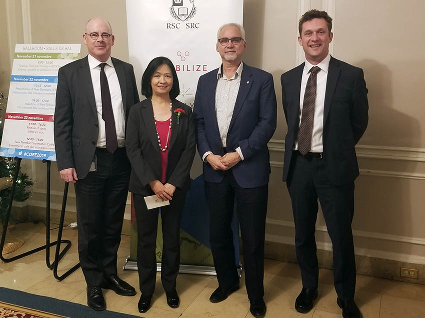 From left to right: Iain Stewart, Dr. Dan-Xia Xu, Dan Wayner, and Christophe Py