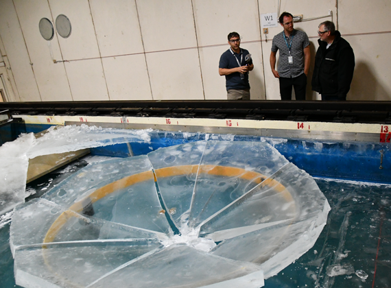 Researchers testing ice reinforcements